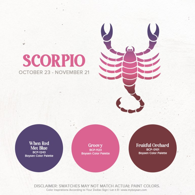 Color Inspirations According to Your Zodiac Sign | MyBoysen