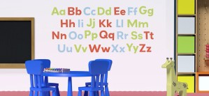 Paint the Alphabet on Your Toddler's Bedroom Wall