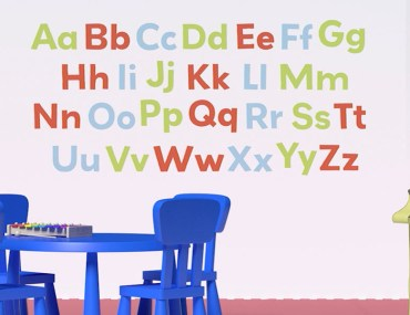 Paint the Alphabet on Your Toddler's Bedroom Wall | MyBoysen