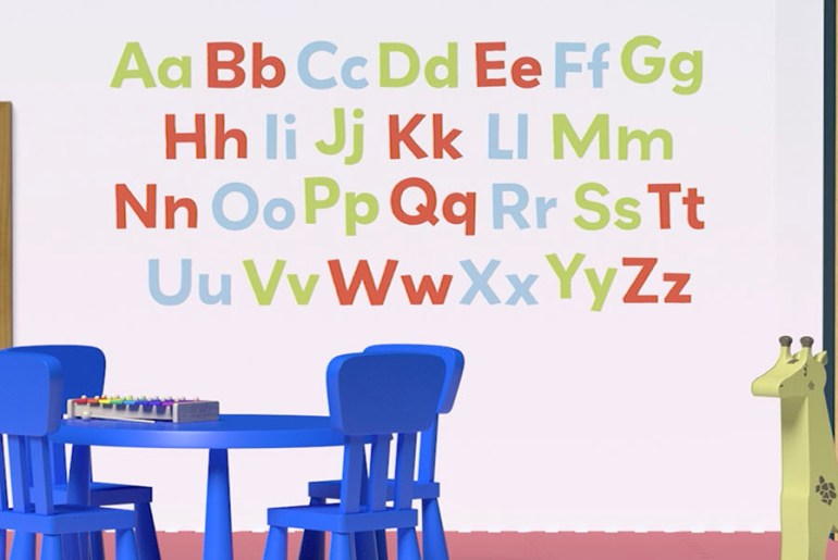 Paint the Alphabet on Your Toddler's Bedroom Wall   MyBoysen