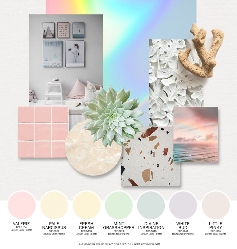 Paint Rainbow Colors On Your Walls With These Three Palettes | MyBoysen