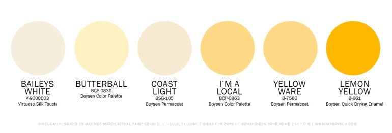 Hello, Yellow: 7 Ideas for Pops of Sunshine in Your Home | MyBoysen