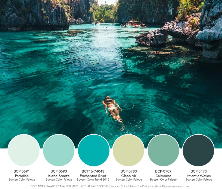 Vacation Color Palettes: The Philippines   MyBoysen
