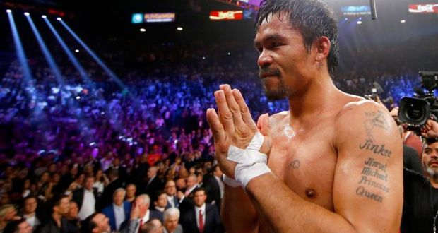 """After losing the """" fight of the century """" against Floyd Mayweather, Manny Pacquiao announced that he had to undergo surgery of the shoulder after injuring himself during his preparation ."""