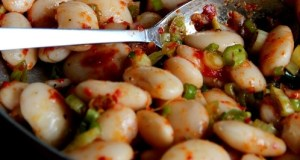 Recipe: Giant Beans with harissa and scallion