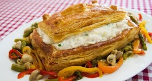 puff pastry Cod with Shrimp