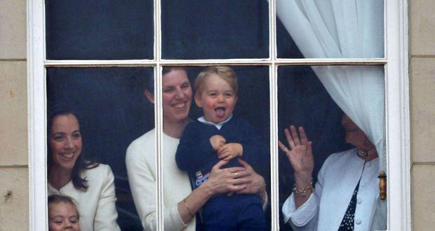 Prince George steals the show with royal wave from Buckingham Palace balcony