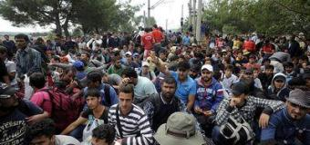 Migrants Crisis: tension at the border no man's land between Macedonia and Greece