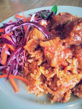 Party Jollof Rice - My Burnt Orange
