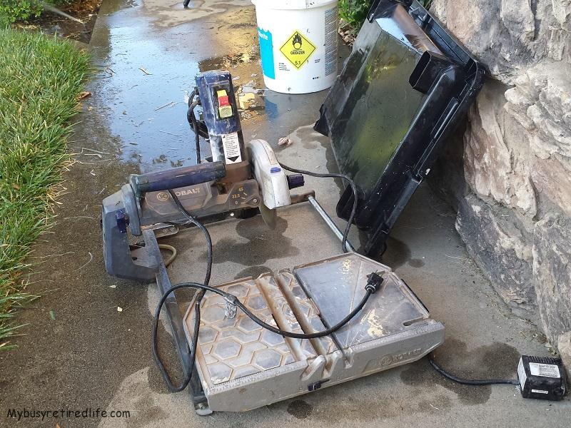 buying a used wet tile saw my busy