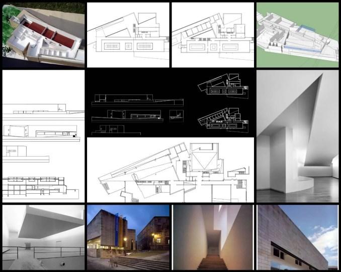 【世界知名建築案例研究CAD設計施工圖】加里西亞當代藝術博物館Galicia Museum of Contemporary Art-Alvaro Siza