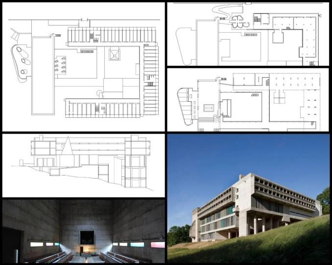 【世界知名建築案例研究CAD設計施工圖】拉圖雷特修道院Couvent Sainte-Marie de La Tourette-勒·柯布西耶