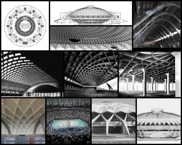 【世界知名建築案例研究CAD設計施工圖】帕拉羅托馬提卡體育館PalaLottomatica-Pier Luigi Nervi