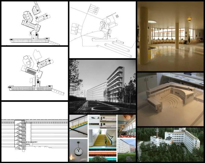 【世界知名建築案例研究CAD設計施工圖】帕伊米奧療養院Paimio sanatorium-Alvar Aallon