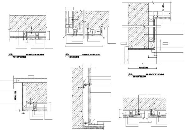 【各類CAD Details細部大樣圖庫】牆面石材與不銹鋼大樣節點CAD大樣圖