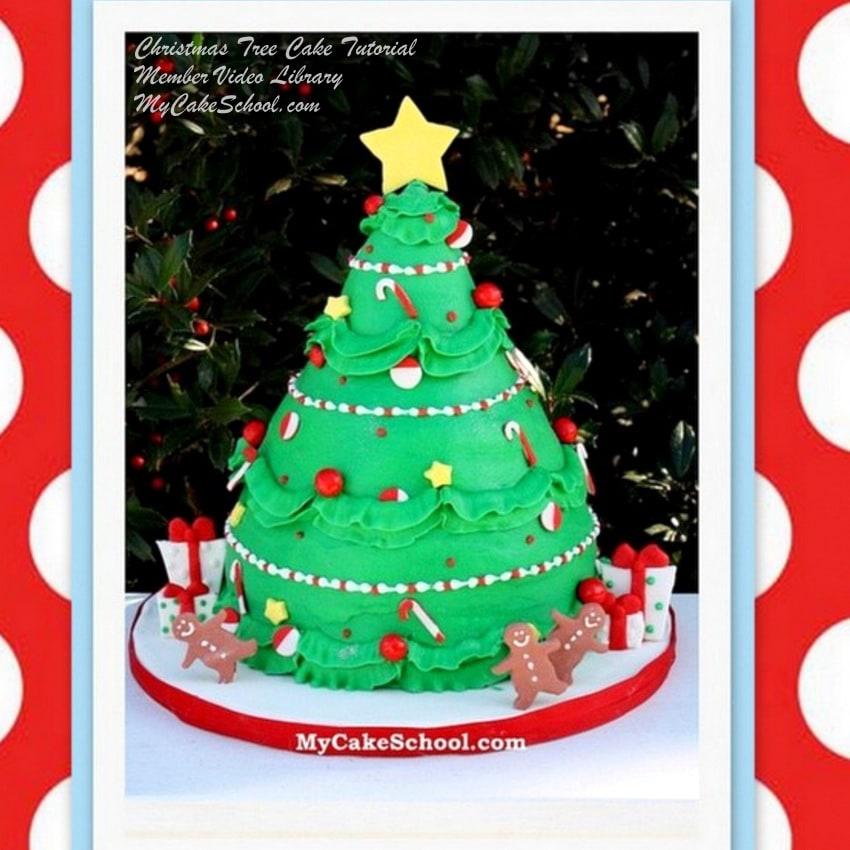 Christmas Tree Cake Video Tutorial My Cake School My