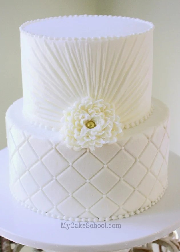 Quilted Buttercream A Video Tutorial My Cake School