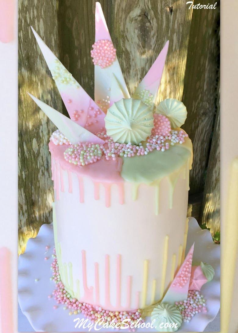 Chocolate Drip Amp Reverse Drip Cake A Cake Decorating