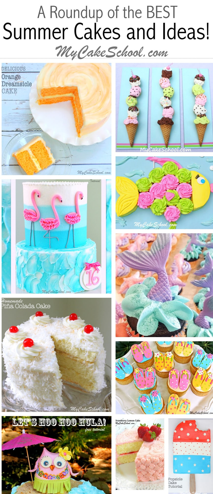 Roundup Of The Best Summer Cakes Tutorials And Ideas