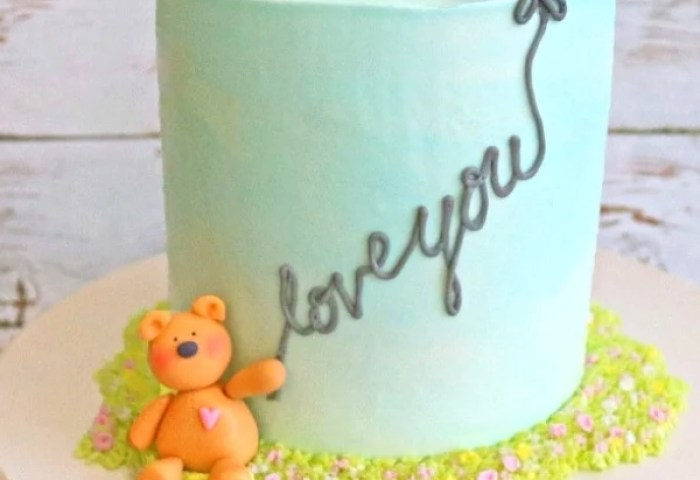 Teddy Bear And Balloon Cake A Free Cake Decorating Video My Cake