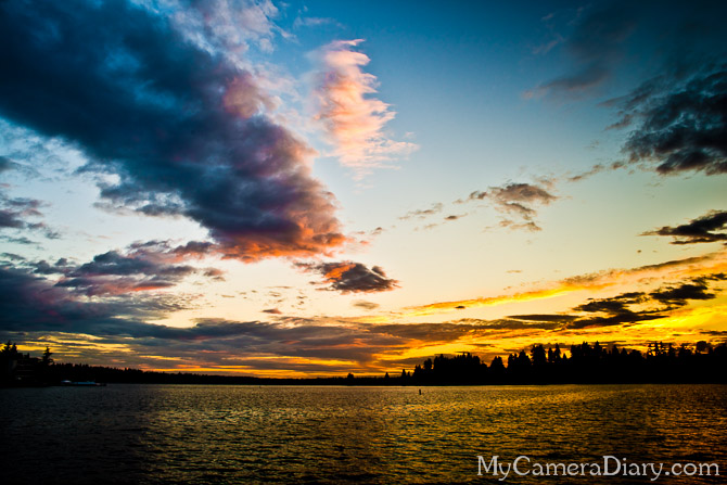 Seattle Photo | Sunset On Lake Washington