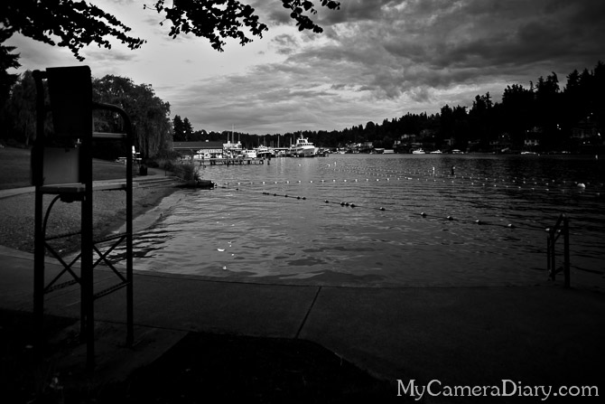 Seattle Photo | Sunset On Lake Washington (Black & White)