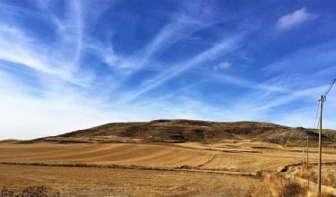 Fall sky castrojeriz meseta Camino de Santiago