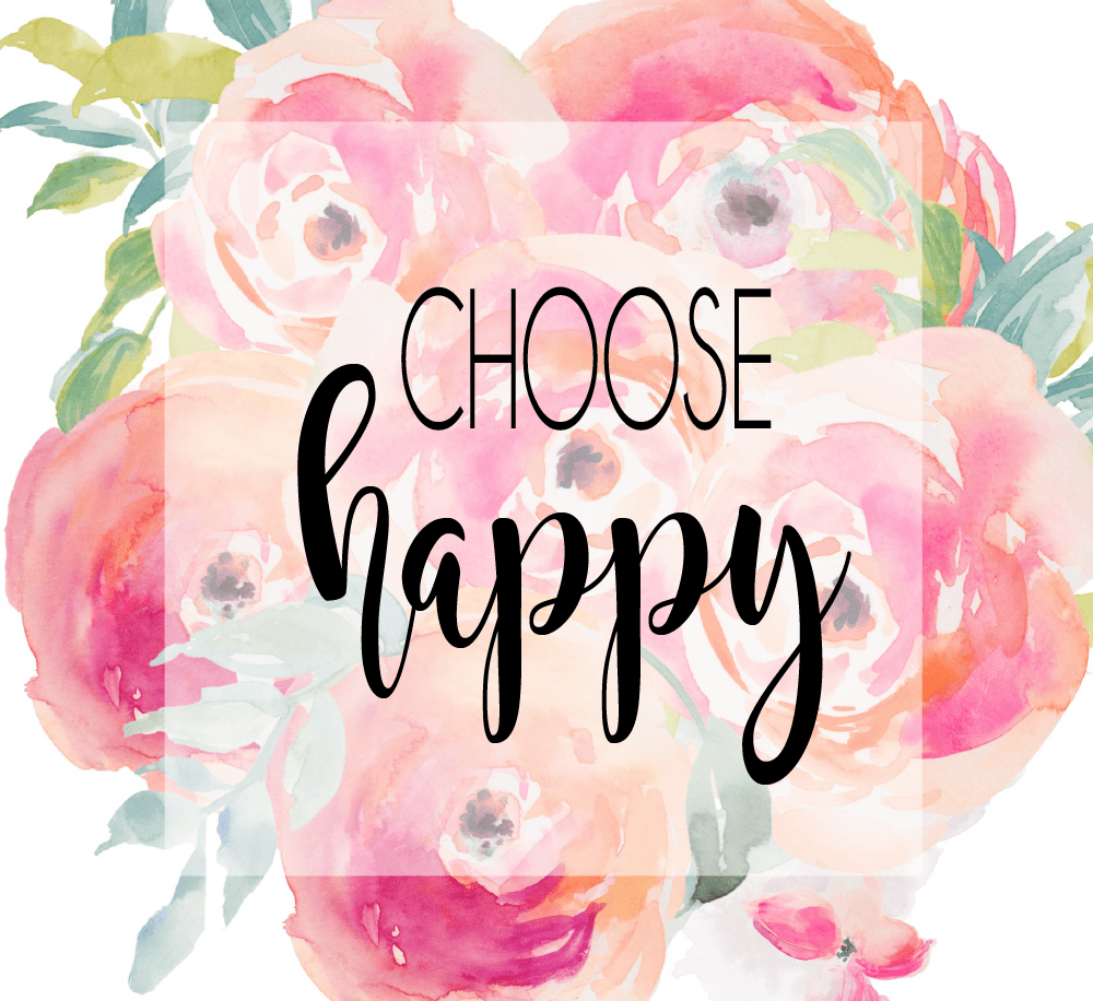 Choose Happy Peony Quote My Cancer Chic