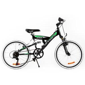 Ποδήλατο VOYAGER 20 FULL SUSPENSION Μαύρο