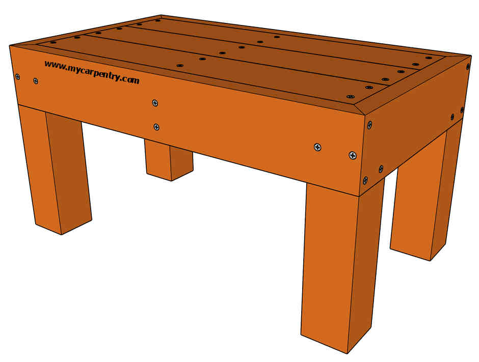 wooden bench free plans for building