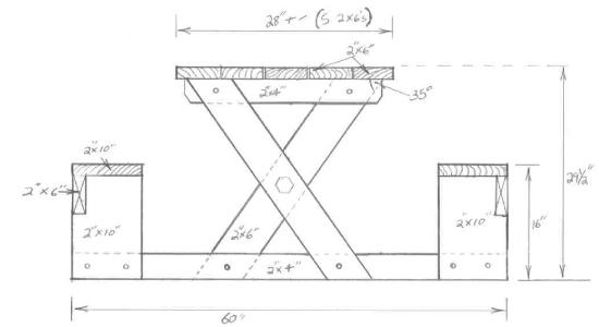 Picnic Table Plans 2X6