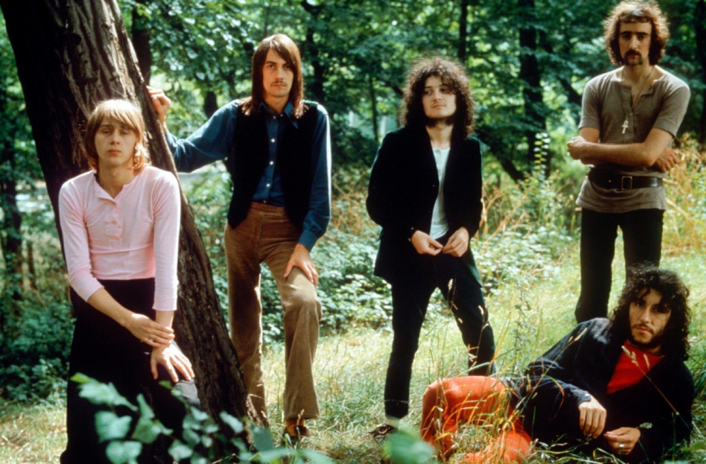 Danny Kirwan, Mick Fleetwood, Jeremy Spencer, John McVie and Peter Green of Fleetwood mac
