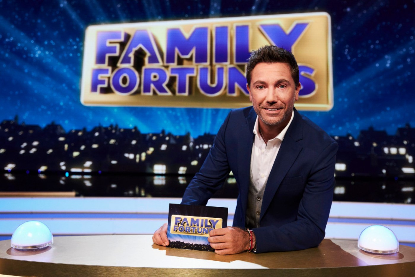 This image and the information contained herein is strictly embargoed until 00.01 Tuesday 15th September 2020 From Thames Family Fortunes on ITV Pictured: Gino D?Acampo. This photograph is (C) Thames and can only be reproduced for editorial purposes directly in connection with the programme or event mentioned above, or ITV plc. Once made available by ITV plc Picture Desk, this photograph can be reproduced once only up until the transmission [TX] date and no reproduction fee will be charged. Any subsequent usage may incur a fee. This photograph must not be manipulated [excluding basic cropping] in a manner which alters the visual appearance of the person photographed deemed detrimental or inappropriate by ITV plc Picture Desk. This photograph must not be syndicated to any other company, publication or website, or permanently archived, without the express written permission of ITV Picture Desk. Full Terms and conditions are available on the website www.itv.com/presscentre/itvpictures/terms For further information please contact: james.hilder@itv.com / 0207 157 3052
