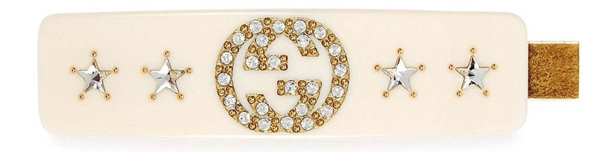 Gucci GG Crystal-Embellished Hair Clip