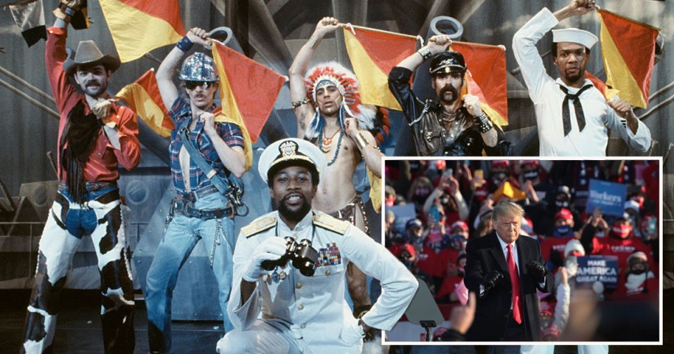 My Celebrity Life – The Village People are not here for Trump dancing to their song Picture Getty