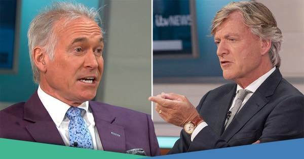 Richard Madeley clashes with Dr Hilary again over lockdown restrictions as he brands Chris Whitty and Sir Patrick Vallance 'Chuckle Brothers'