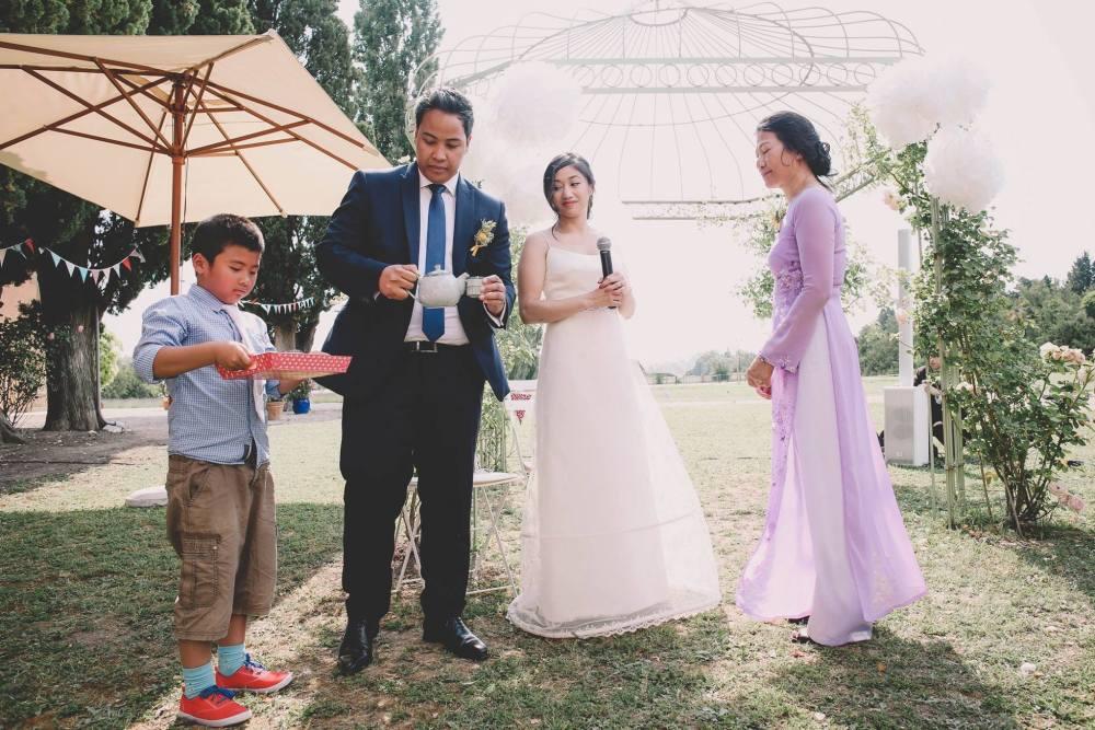 cérémonie du thé mariage laïque