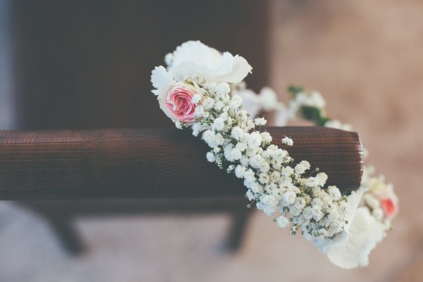 couronne de fleurs cérémonie laïque