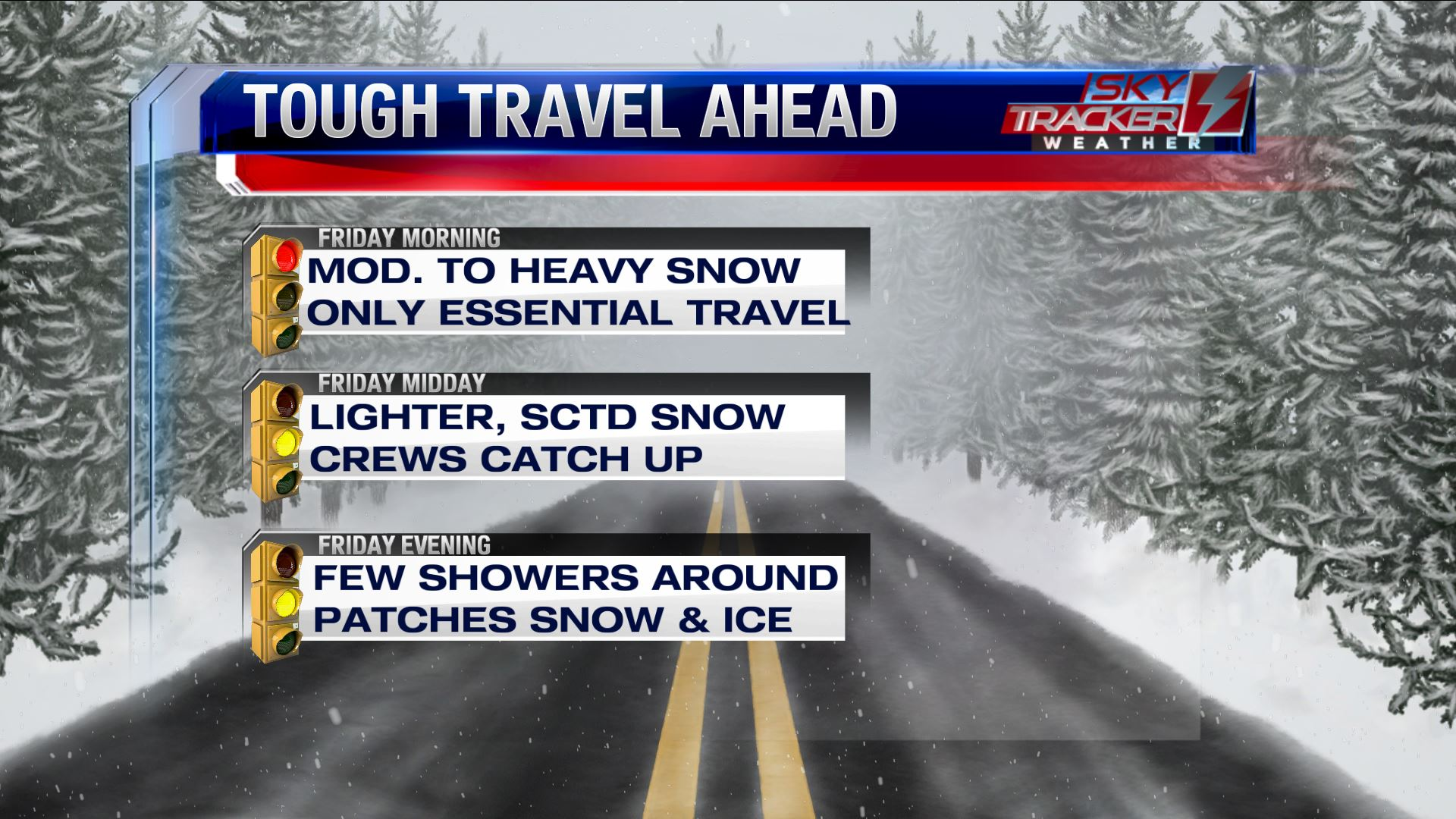 Tough Travel Conditions Friday