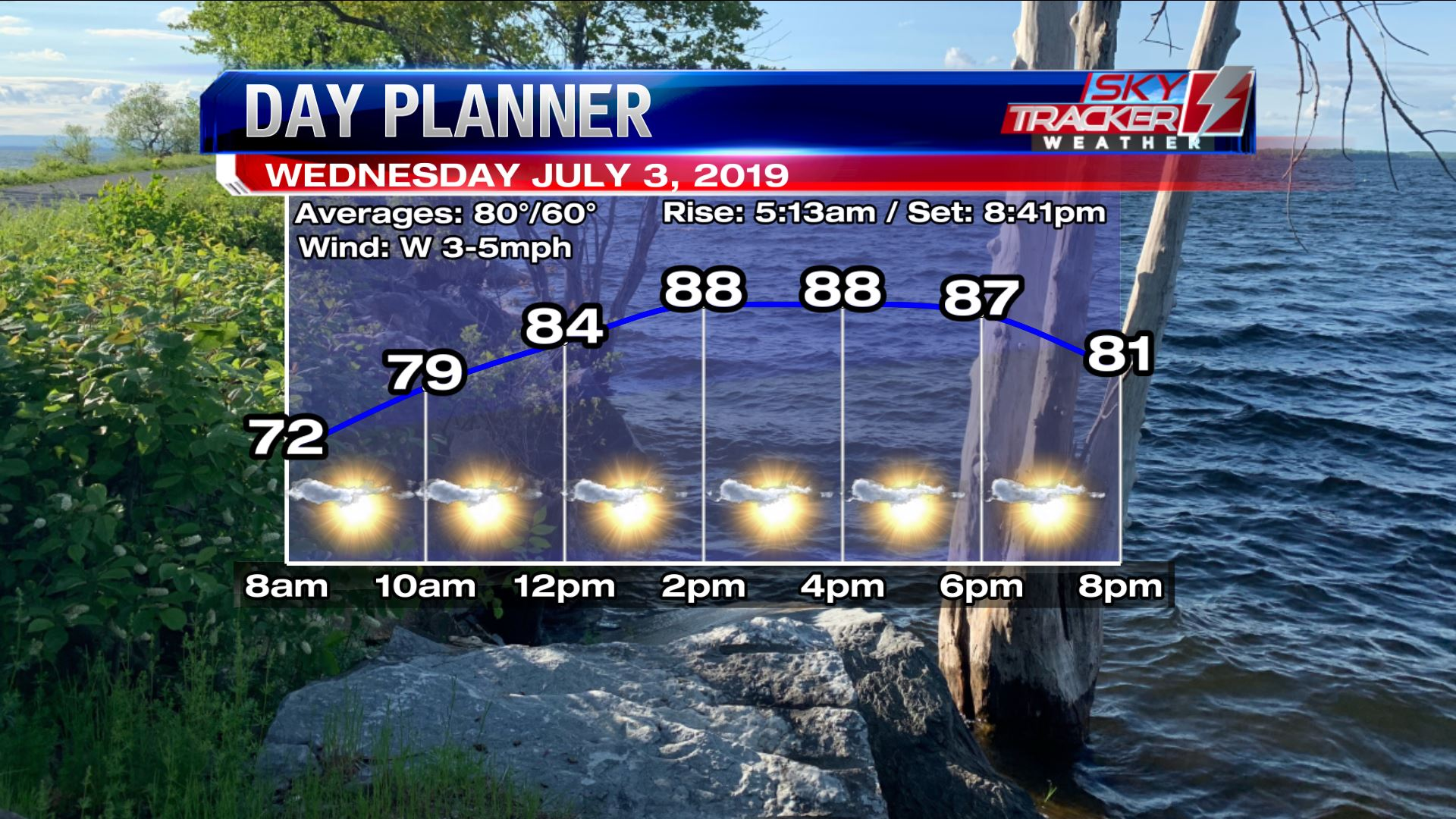 Planner for Wednesday July 3 2019
