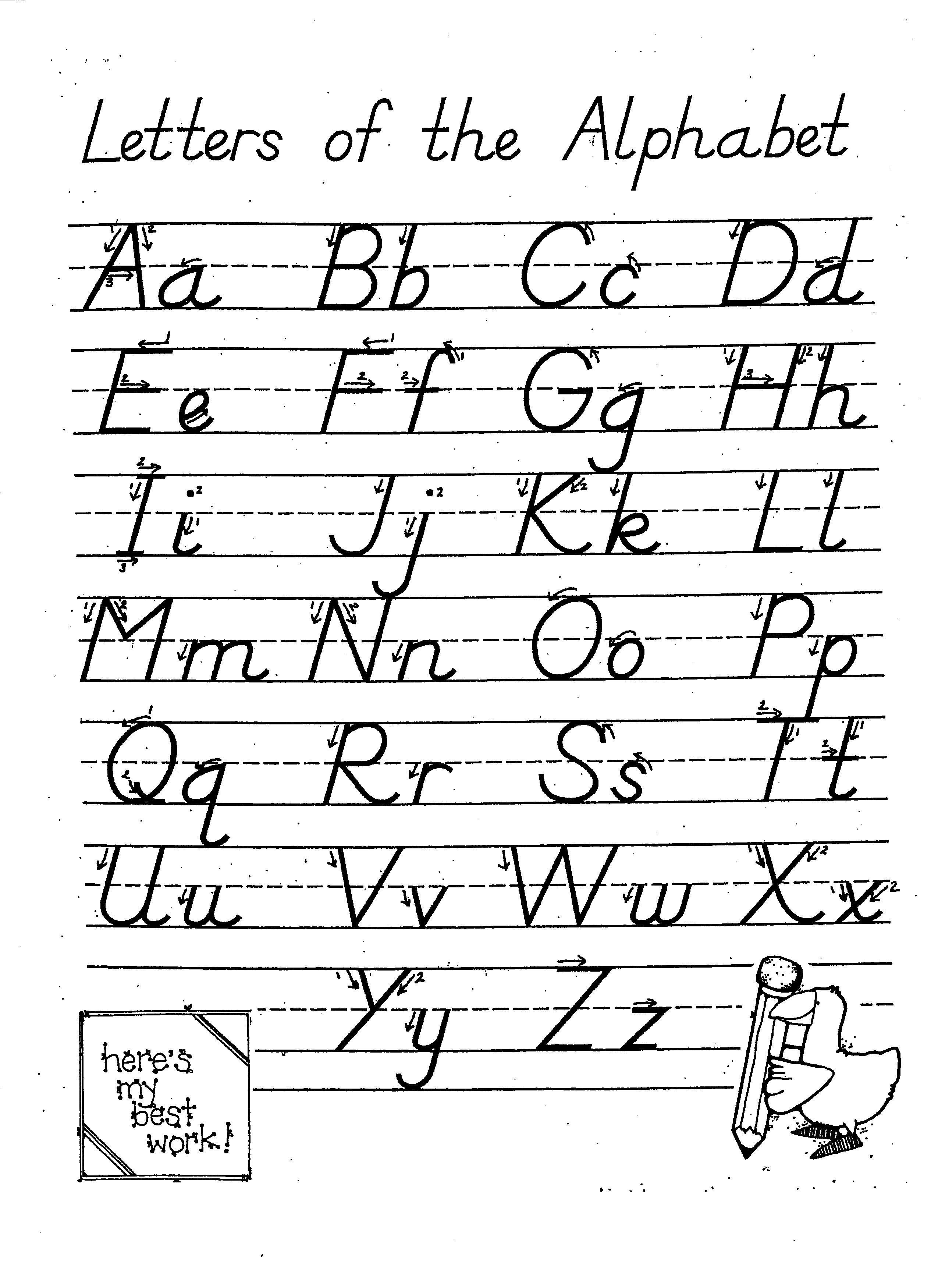A Z Alphabet Dinky Cow Preschool Letter Writing Worksheets