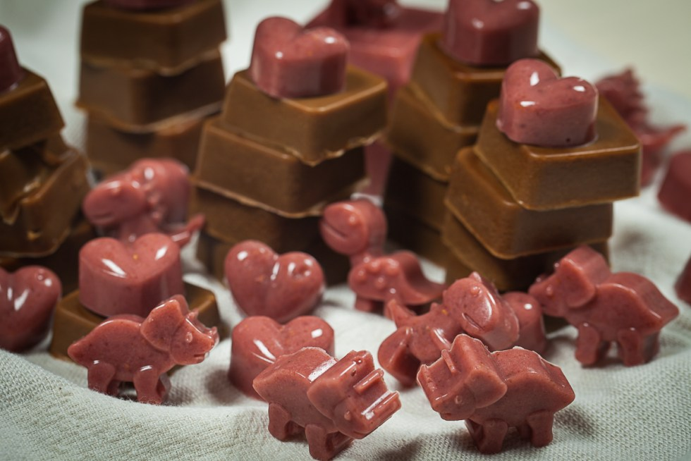 Coconut Raspberry and Coffee flavored Gummies