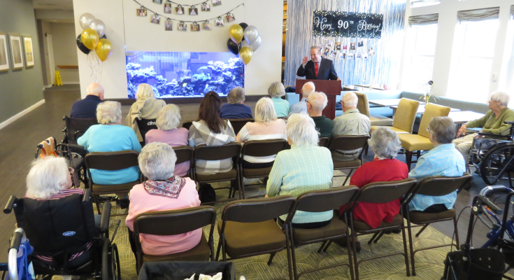 Dinniman Visits Daylesford Crossing Senior Center to Celebrate 90+ Citizens