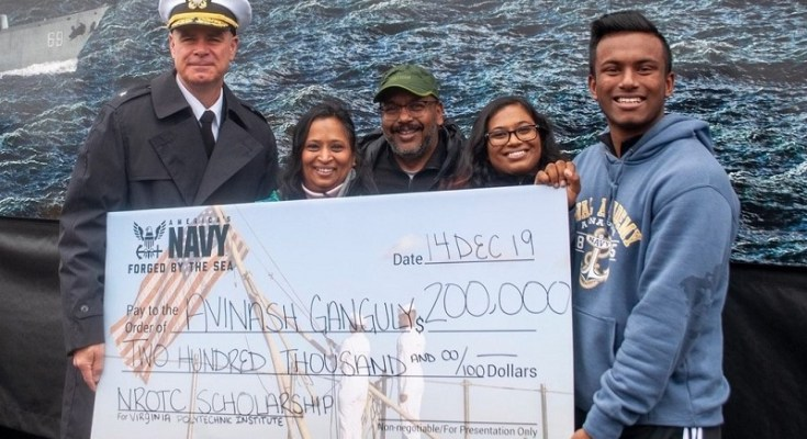 Renaissance Academy Senior Presented National NROTC Scholarship at Army-Navy Game