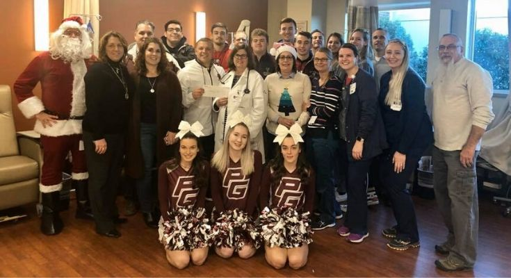 Phoenixville Hospital Cancer Center Receives Donation from Pottsgrove High School