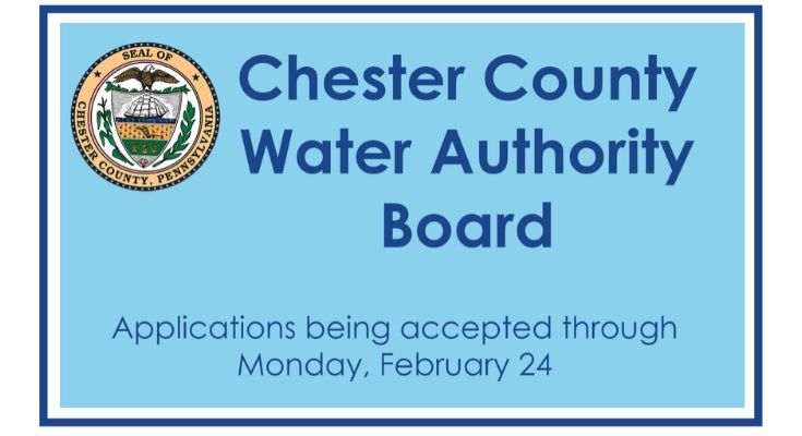 Commissioners Invite Applications for Chester Water Authority Board Position