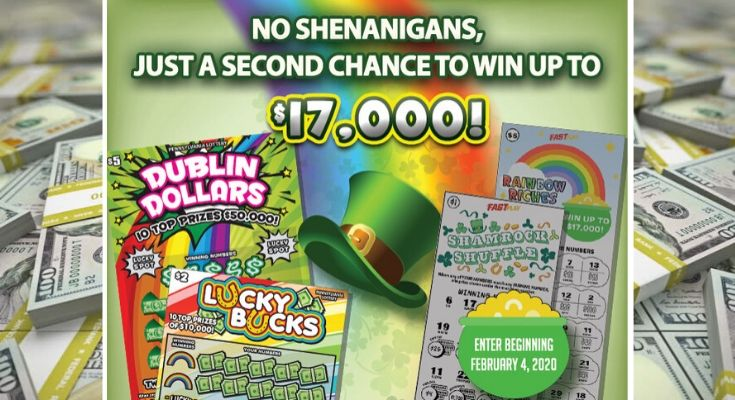 Pennsylvania Lottery's Go for the Green Second-Chance Drawing Opens Offering a Total of $210,000 in Prizes