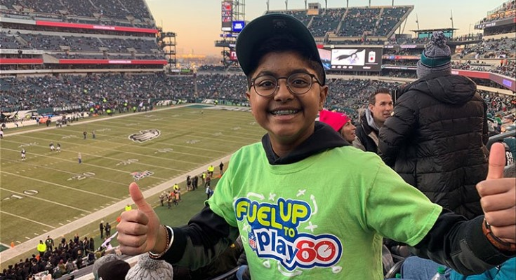 Fuel Up to Play 60 Student Selected to Announce Philadelphia Eagles Draft Pick