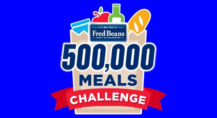 Fred Beans Launches 500,000 Meals Challenge on #GivingTuesdayNow