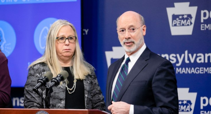 Governor Tom Wolf and Secretary of Health Dr. Rachel Levine